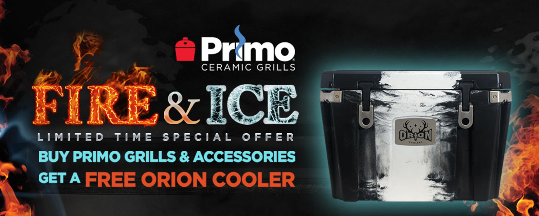 Buy a primo grill and get a primo cooler free